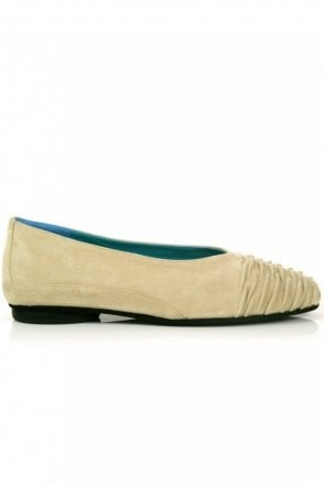 Shirred Front Ballet Pump