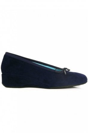Suede Ballerina Wedge
