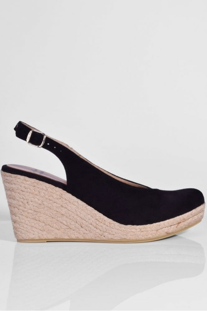 Toni Pons BCN-A Suede Slingback in Black
