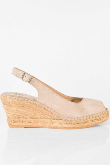 Calpe Suede Slingback in Stone