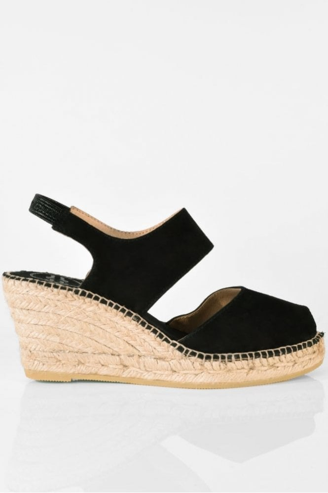 Toni Pons Cris-A Suede Slingback in Black
