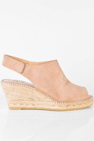 Cristel-A Suede Wedge in Nude