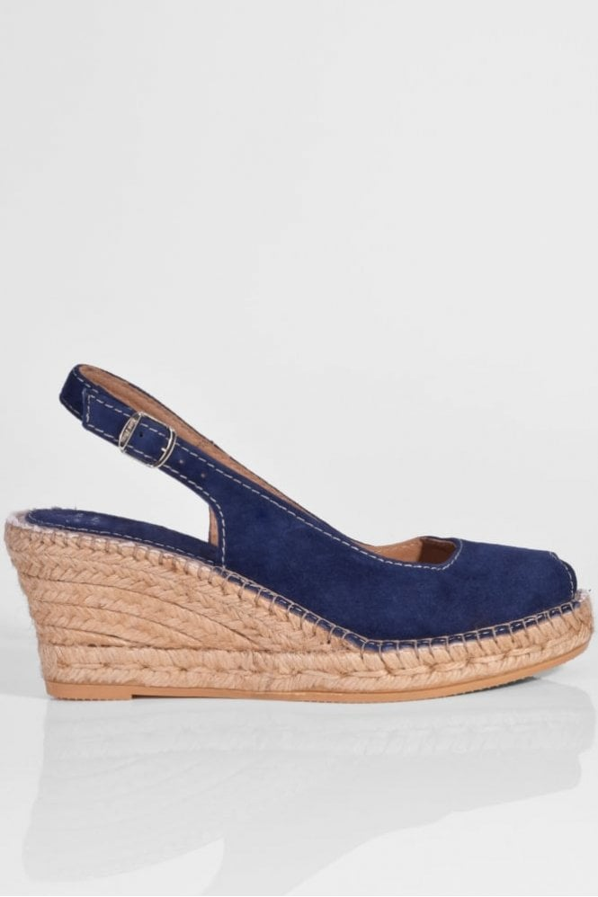 Toni Pons Suede Slingback in Navy