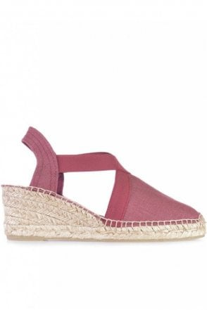 Ter Linen Espadrille Wedge in Bru