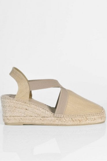 Ter Linen Espadrille Wedge in Stone