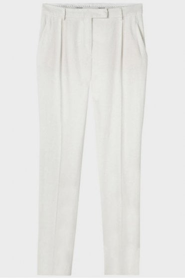 Cotton Crop Pant in White