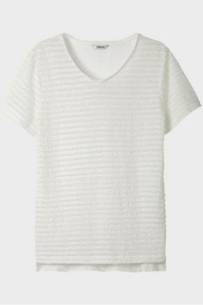 V Neck Top in White