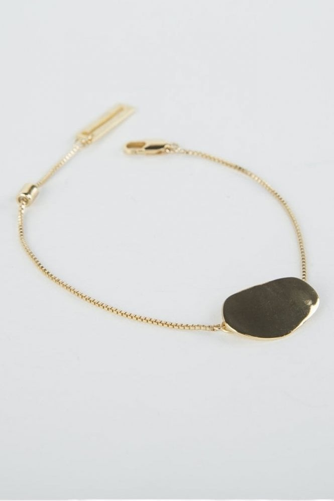 Tutti & Co Gold Pebble Bracelet