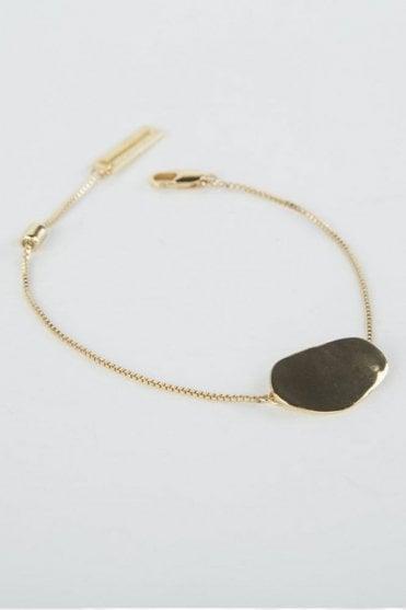 Gold Pebble Bracelet
