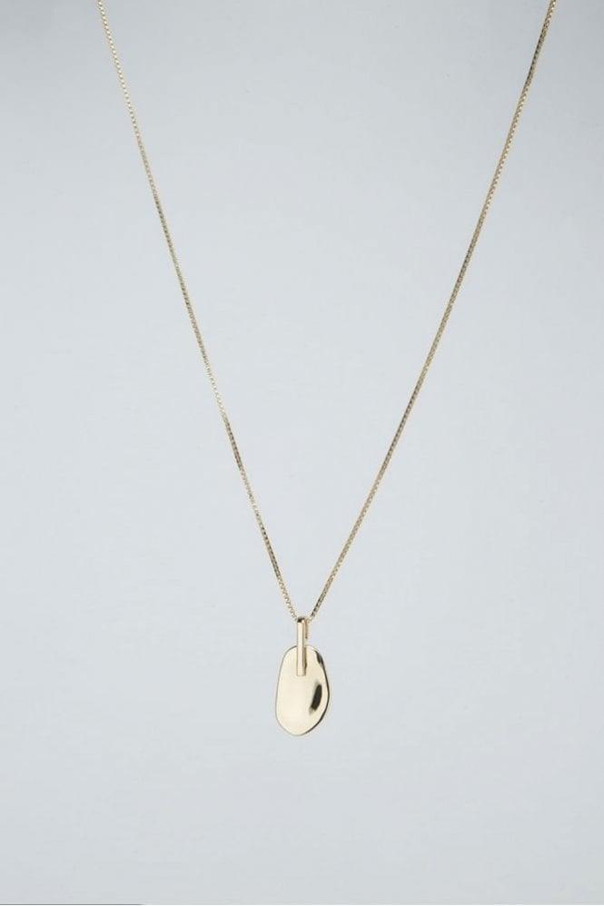 Tutti & Co Gold Pebble Necklace