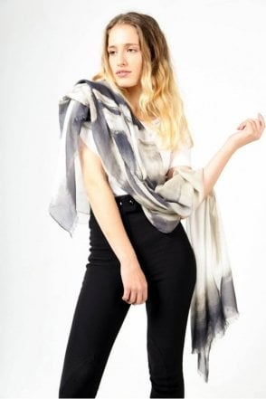 Grey Drift Scarf