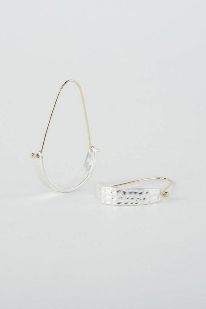Tutti & Co Silver Arch Earrings