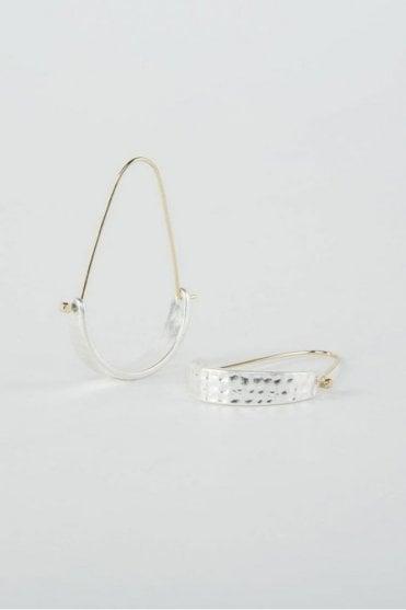 Silver Arch Earrings