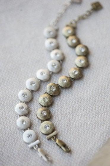 Silver Clear Crystal Inset Bracelet