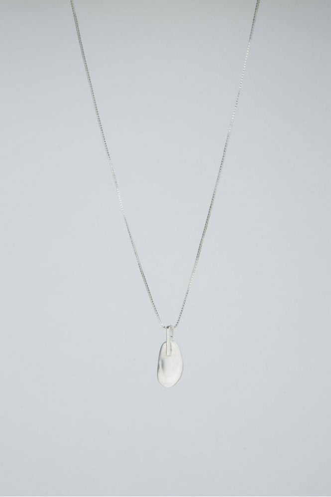 Tutti & Co Silver Pebble Necklace