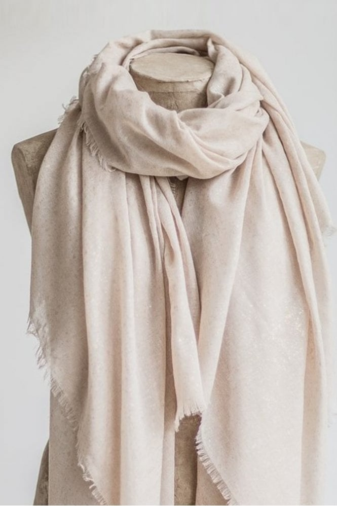 Tutti & Co Stone and Gold Metallic Scarf