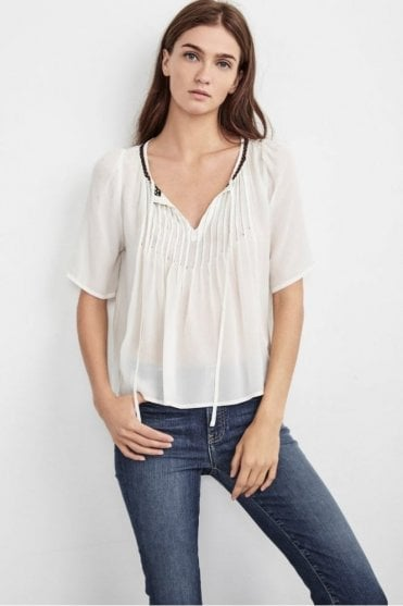 Blake Pintuck Top In Cream