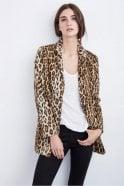 Velvet by Graham & Spencer Celine Faux Fur Leopard Coat in Saharan