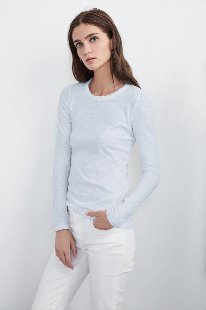 Velvet by Graham & Spencer Lizzie Original Slub Long Sleeve Tee in Breezy