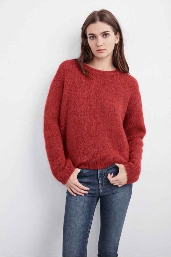 Velvet by Graham & Spencer Louisa Chunky Cloud Sweater in Cranapple