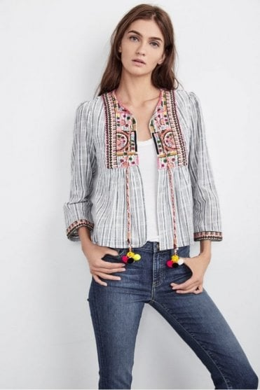Mckay Embroidered Cotton Jacket