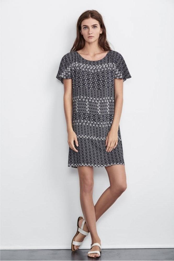 Velvet by Graham & Spencer Melitta Corisca Print Dress in Black