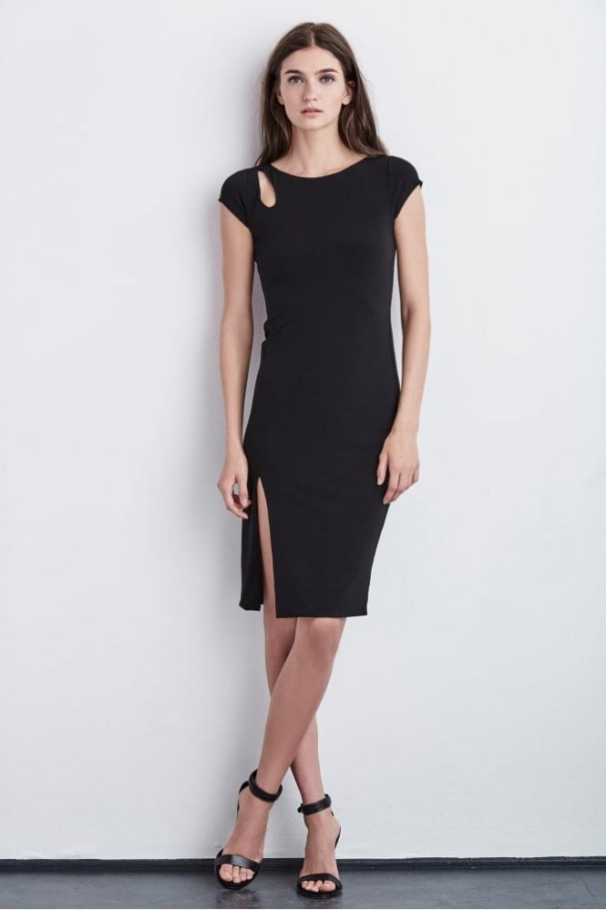 Velvet by Graham & Spencer Meredith Cap Sleeve Stretch Jersey Dress in Black