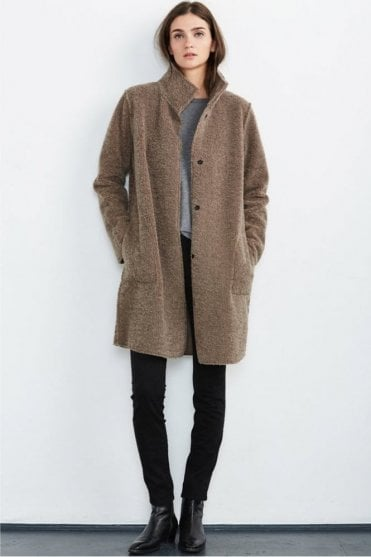 Mirabella Reversible Lux Sherpa Coat in Mink