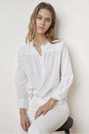 Nilda Cotton Shirt in White