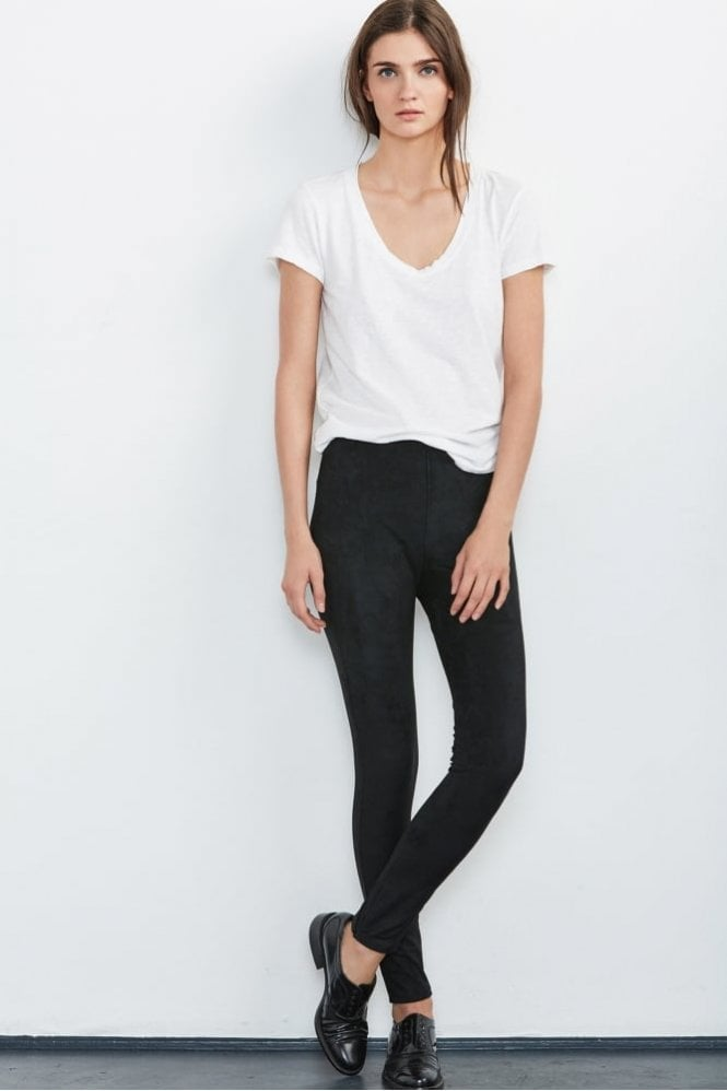 Velvet by Graham & Spencer Rosalind Faux Suede Leggings in Black
