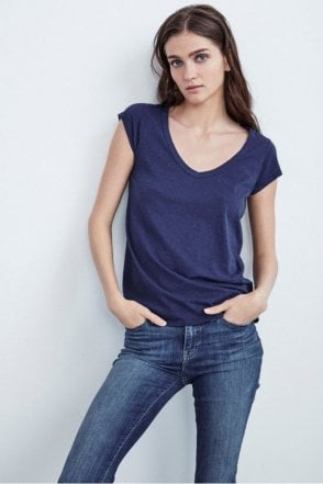 Sumette Cotton Slub Tee in Magic