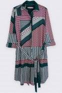Vilagallo Adriana Monza Print Dress