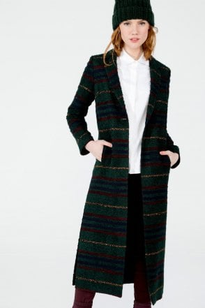 Alexandra Coat in Dublin Stripe