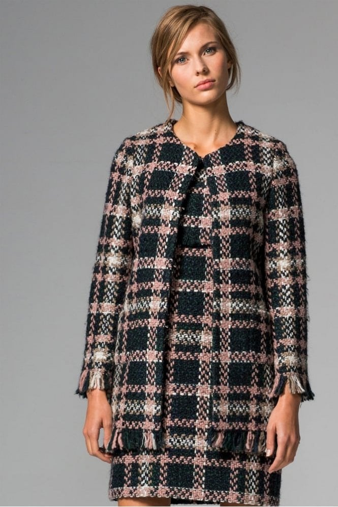 Vilagallo Anna Lotus Check Coat
