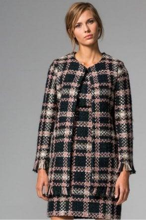 Anna Lotus Check Coat