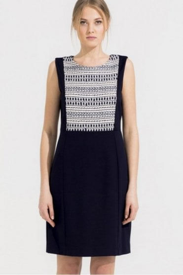 Louise Arga Navy Ecru Dress