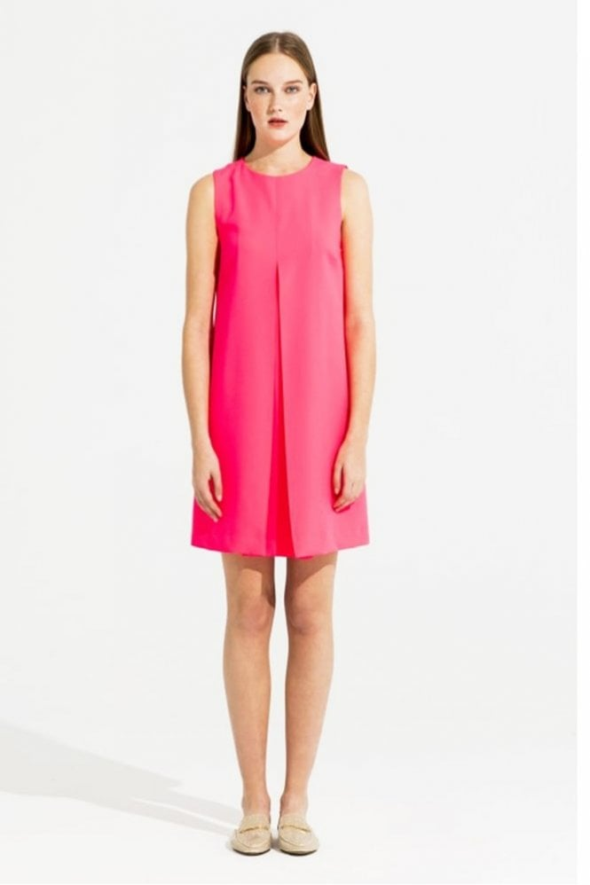 Vilagallo Mandi Crepe Fluor Pink Dress