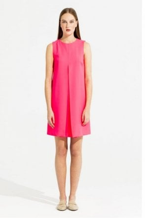 Mandi Crepe Fluor Pink Dress