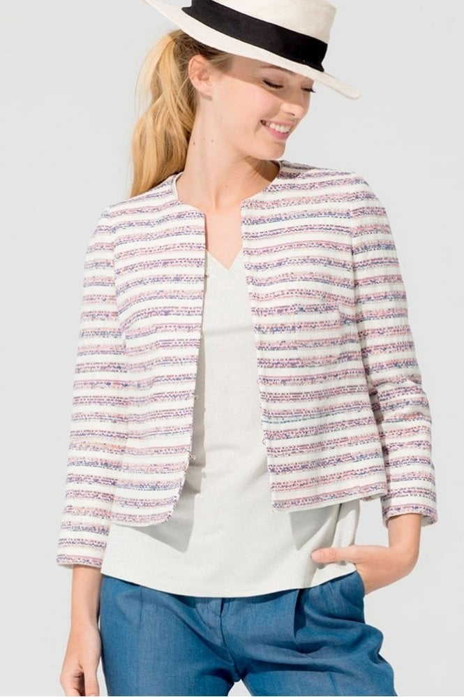 Vilagallo Niki Menorca Striped Jacquard Jacket