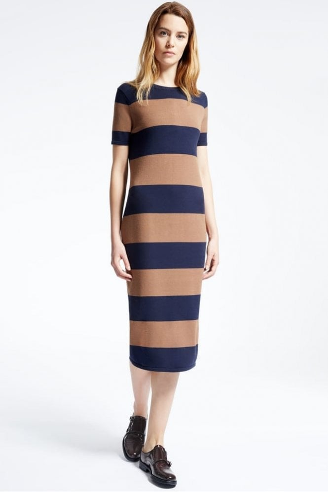 Weekend MaxMara Addi Viscose Knit Dress in Tobacco