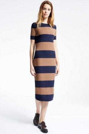 Addi Viscose Knit Dress in Tobacco