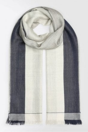 Alpaca and Silk Scarf in Light Grey
