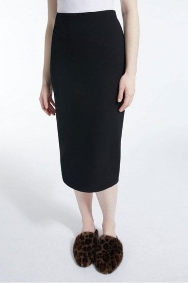 Alpino Viscose Jersey Skirt in Black