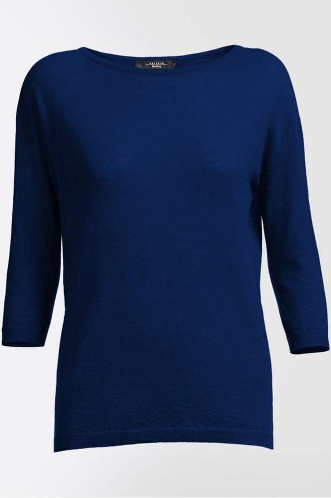 Weekend MaxMara Ancella Pure Cashmere Knit Shirt in Ultramarine