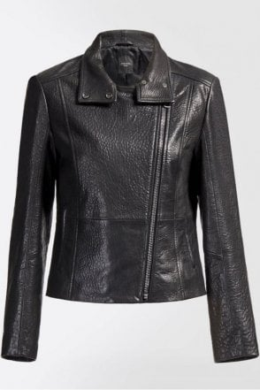 Angizia Leather Jacket in Black