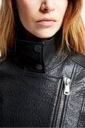 Weekend MaxMara Angizia Leather Jacket in Black