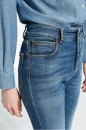 Weekend MaxMara Ario Mid-Rise Cropped Flared Skinny Jeans