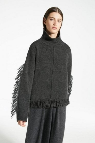Benny Wool Yarn Jumper in Dark Grey