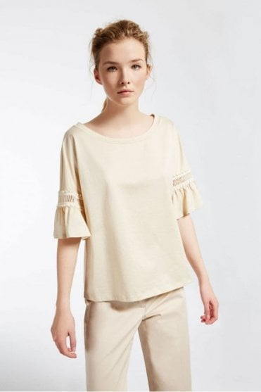 Borel Cotton Jersey T-Shirt in Sand