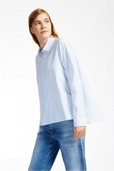 Brunner Cotton Shirt in Sky Blue